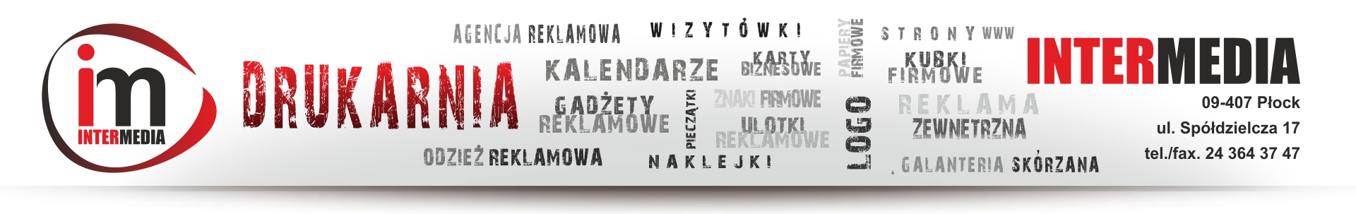 Kalendarze dla firm. InterMedia Płock ul. Piłsudskiego 17